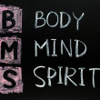 Body,mind and spirit concept — Stock Photo