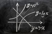 Maths formulas written on blackboard — Stock Photo