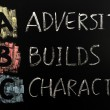 Stock Photo: Acronym of ABC - Adversity builds character
