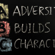 Acronym of ABC - Adversity builds character — Stock Photo