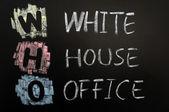 Acronym of WHO - White House Office — Stock Photo