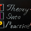 Acronym of TIP - Theory into Practice — Stock Photo