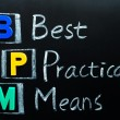 Stock Photo: Acronym of BPM - Best Practical Means