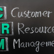 Acronym of CRM - Customer Resource Management — Stockfoto #8995146
