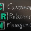 Acronym of CRM - Customer Relationship Management — Stock Photo #8995337