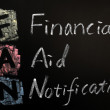 Acronym of FAN - financial aid notification — Stock Photo