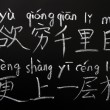 Learning Chinese characters — Stock Photo