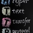 HTTP acronym - hyper text transfer protocol - Stock Photo
