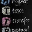 HTTP acronym - hyper text transfer protocol — Stock Photo #9024715