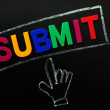 Submit button with cursor hand — Stock Photo #9024893