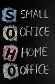 SOHO acronym - Small office,home office — Stock Photo