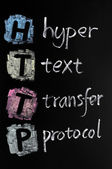 HTTP acronym - hyper text transfer protocol — Stock Photo