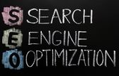 SEO acronym - Search engine optimization — Stock Photo