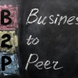 Acronym of B2P - Business to Peer — Stock Photo