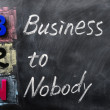 Stock Photo: Acronym of B2N - Business to Nobody
