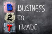 Acronym of B2T - Business to Trade — Stock Photo