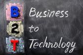 Acronym of B2T - Business to Technology — Stock Photo
