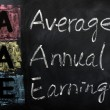 Stock Photo: Acronym of AAE for Average Annual Earnings