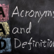 Acronym of AAD for Acronyms and Definition — Stock Photo
