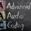 Acronym of AAC for Advanced Audio Coding — Stock Photo #9080796