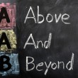 Acronym of AAB for Above and Beyond — Stock Photo