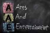 Acrónimo de aae para las artes y entretenimiento — Foto de Stock