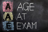 Acronym of AAE for Age at Exam — Stock Photo