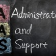 Acronym of AAS for administrator and support — Stock Photo
