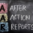 Stock Photo: Acronym of AAR for After Action Reports
