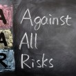 Acronym of AAR for Against All Risks — Stock Photo #9092904