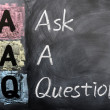 Acronym of AAQ for Ask a Question — Foto Stock