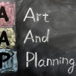 Acronym of AAP for Art and Planning — Stock Photo #9092948