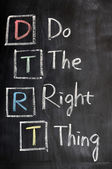 Acronym of DTRT for Do the Right Thing — Stock Photo