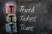 Acronym of TTT for Truth Takes Time — Stock Photo