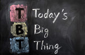 Acronym of TBT for Today's Big Thing — Stock Photo