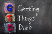 Acronym of GTD for Getting Things Done — Stock Photo