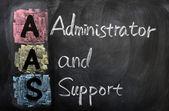 Aas kısaltma yönetici ve destek için — Stok fotoğraf