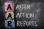 Acronym of AAR for After Action Reports — Stock Photo