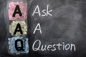 Acronym of AAQ for Ask a Question — Stock Photo