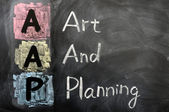 Acronym of AAP for Art and Planning — Stock Photo