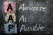頭字語の aap の可能な限り正確 — ストック写真
