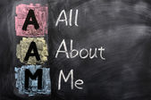 Acronym of AAM for All About Me — Stock Photo