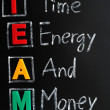 Acronym of TEAM — Stock Photo