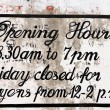 Stock Photo: Opening hours