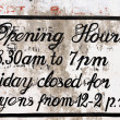 Opening hours — Stock Photo