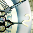 Clock hands, shallow DOF — Stock Photo