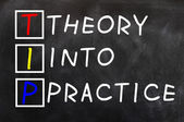 Acronym of TIP for Theory into Practice — Stockfoto