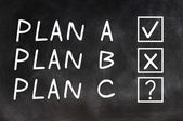 Plan A,Plan B and Plan C — Stock Photo