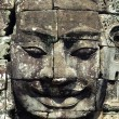 Closeup of Khmer Buddha Head — Stock Photo
