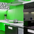Modern kitchen interior - Foto Stock